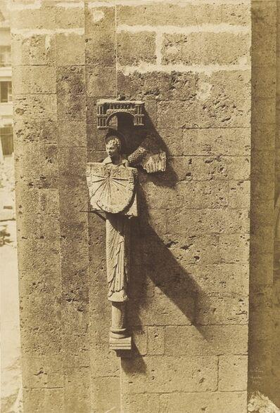 Jean-Louis-Henri Le Secq, 'Ange Portant un Cadran Solaire, à l'Eglise de Chartres', 1852