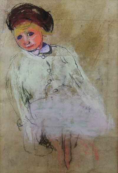 Joan Eardley, 'Girl with chestnut hair', ca. 1955