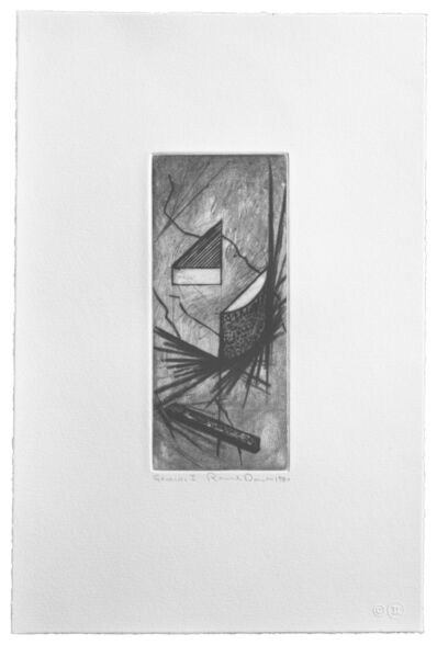 Ronald Davis, 'Drypoint Lambda', 1981