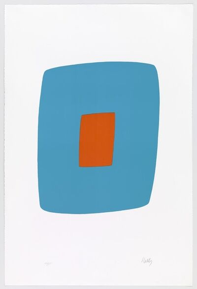 Ellsworth Kelly, 'Light Blue with Orange', 1964-1965