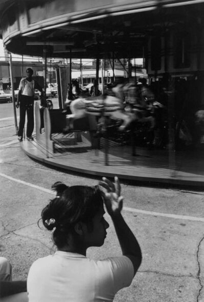 Louis Draper, 'Woman and Carousel, Coney Island', ca. 1976