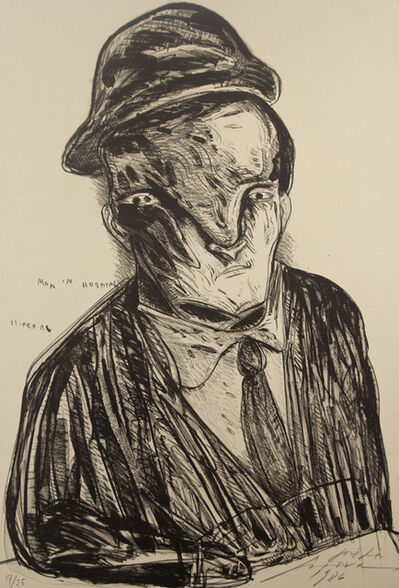 Jose Luis Cuevas, 'Self Portrait in the Room #523', 1986