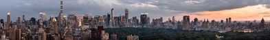 Benjamin Swett, 'Panorama View South from 30 East 85th Street, July 4, 2017, 8:54 PM', 2017