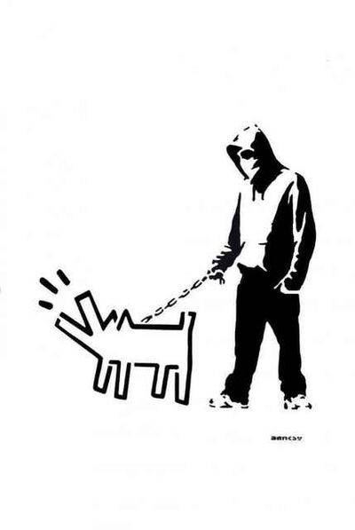 Banksy, 'Hoodie & Haring Dog (After Banksy)', 2017