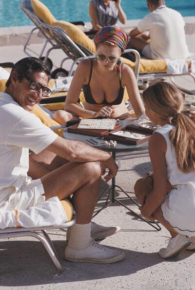Slim Aarons, 'Scrabble in Palm Springs', January 1970