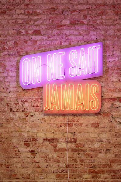 Marcel Buehler, 'ON NE SAIT JAMAIS', 2018