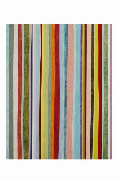 Ien Lucas, 'Stroke traces vertical 01.05.2020', 2020