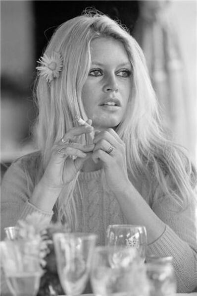Terry O'Neill, 'Brigitte Bardot Table Stare', ca. 1968