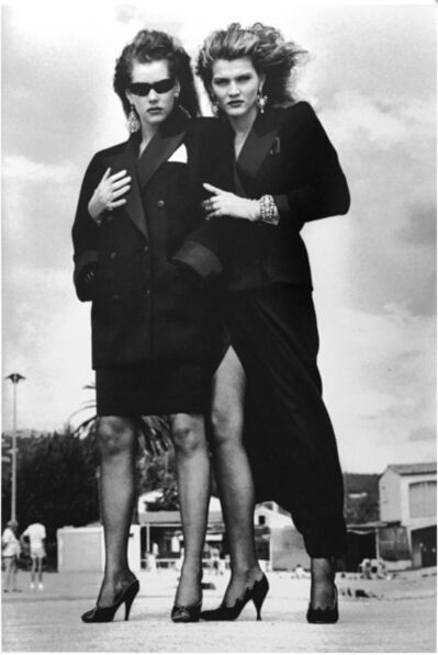 Helmut Newton, 'Model Supporting Model', 1981