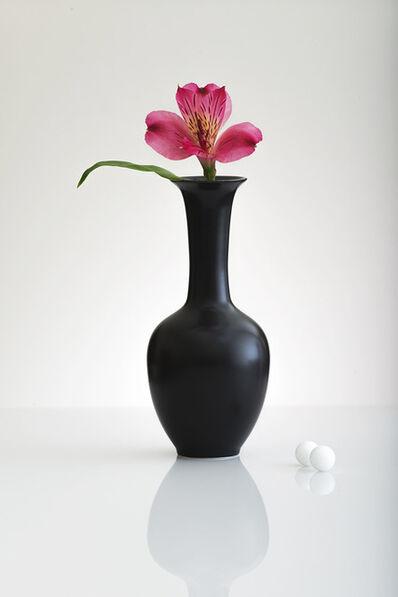 Gary Faye, 'Black Vase/Pink Lily', 2016