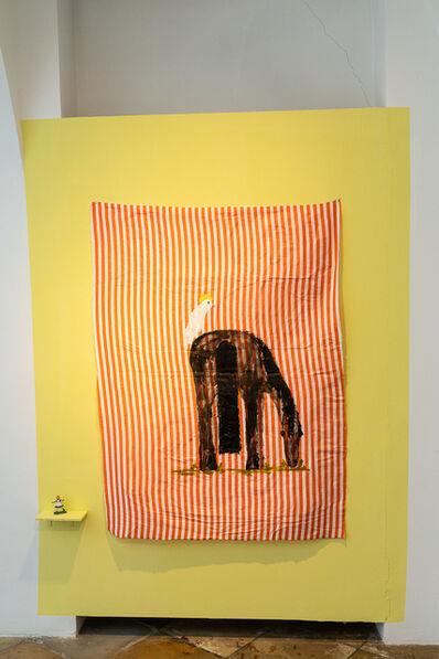 Jenny Watson, 'Black Horse and Cockadu', 2018