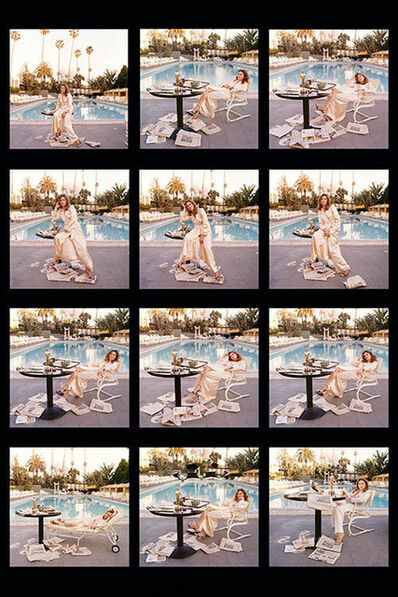 Terry O'Neill, 'Faye Dunaway (contact sheet)', 1977