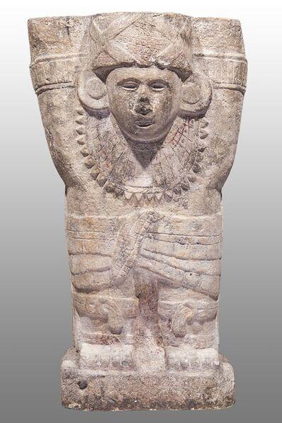 'Atlante de Chichén Itzá avec des cordes entrecroisées sur la poitrine (Atlante of Chichén Itzá with ropes crossed over chest)', 900 -1250 AD