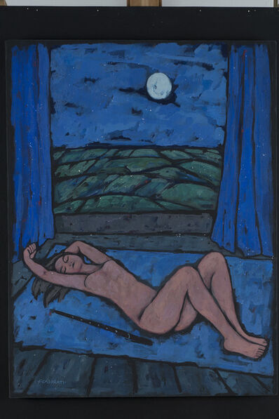 Felice Casorati, 'Nudo dormiente', 1962