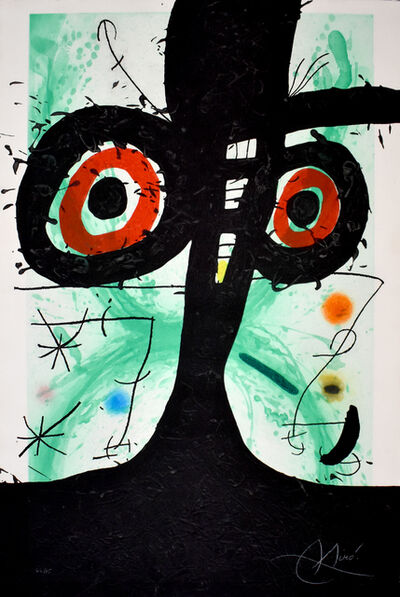 Joan Miró, ' The Old Irishman | Le vieil irlandaise', 1969