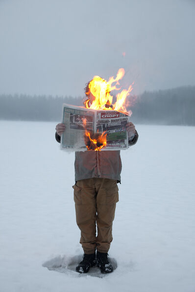 Tim Parchikov, 'Burning News', 2012