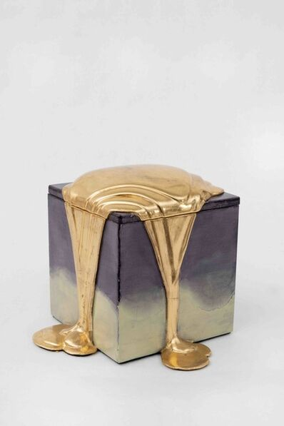 Nancy Lorenz, 'Red Gold Pour Box', 2019
