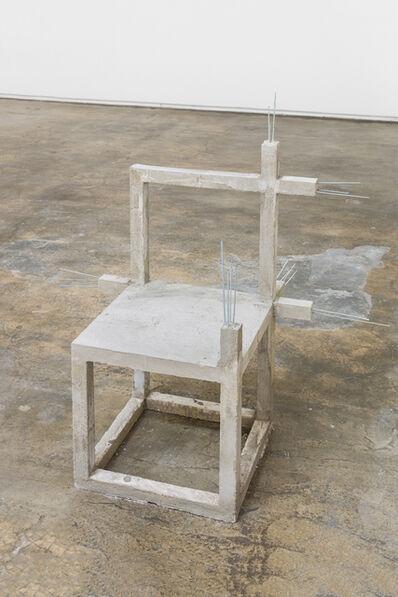Felipe Arturo, 'Unfinished concrete chair #14', 2015