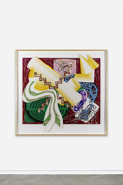 Frank Stella, 'Then came a stick and beat the Dog', 1985