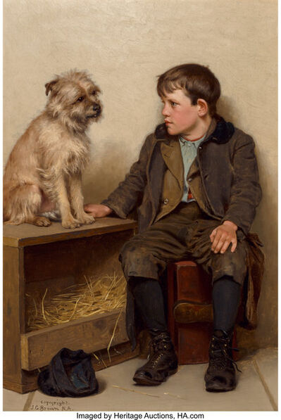 John George Brown, 'A Confab', 1902-1903