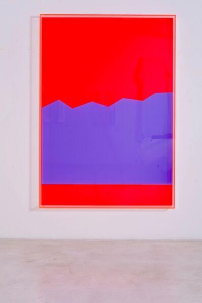 Regine Schumann, 'colormirror hills red', 2019