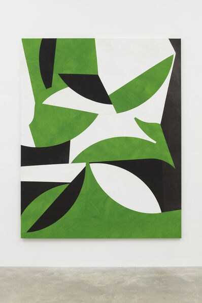 Sarah Crowner, 'Tropical Forms (Grass Green)', 2017