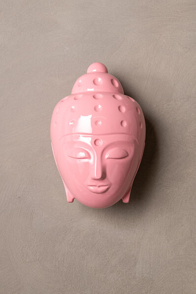Tal Nehoray, 'Contemporary buddha head sculpture - painted in pink car paint', 2019