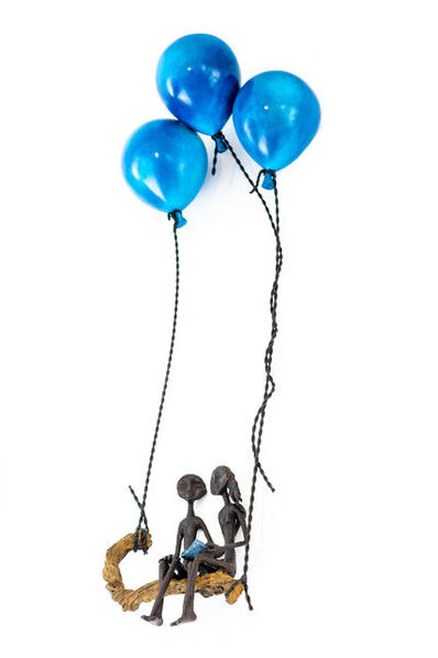 Ruth Bloch, 'Swinging with three balloons', 2020