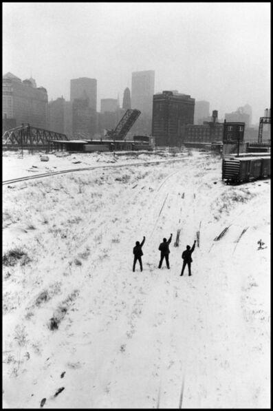 Hiroji Kubota, 'Black Panthers protesting. Chicago, Illinois. USA.', 1969