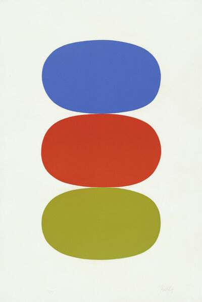 Ellsworth Kelly, 'Blue and Orange and Green'