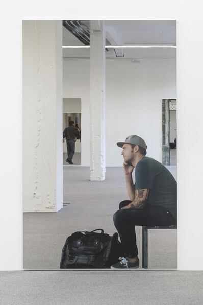 Michelangelo Pistoletto, 'Smartphone - uomo seduto che telefona', 2018
