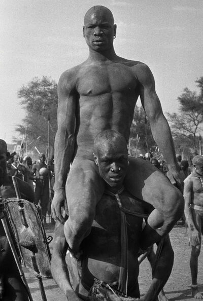 George Rodger, 'The Wrestlers, Kordofan, Sudan', 1949