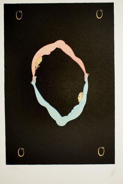 """Erté (Romain de Tirtoff), 'Letter """"O""""', 1976"""
