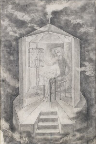 Remedios Varo, 'Study for Papilla estelar', 1958