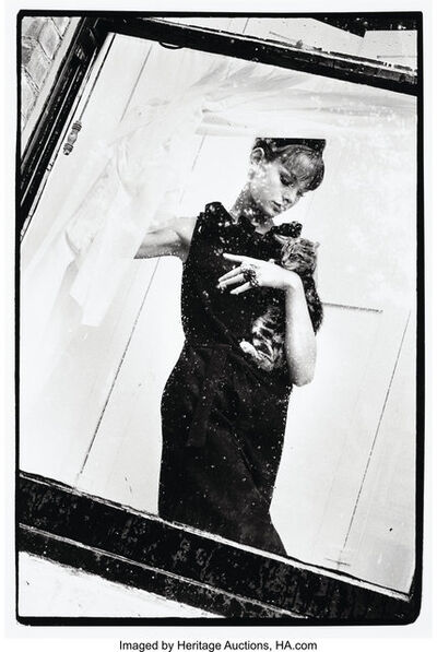 Brian Duffy, 'Jean Shrimpton with Cat for Vogue Magazine', 1961
