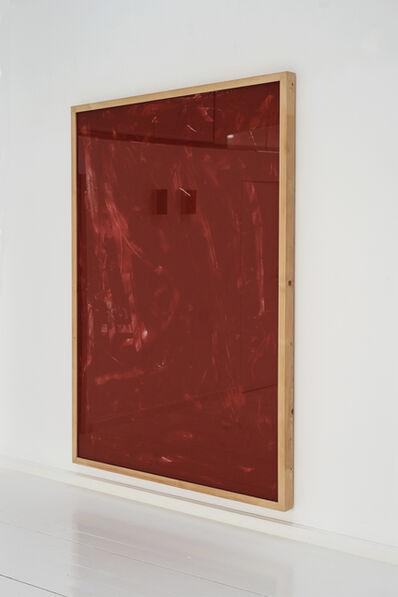 Imi Knoebel, 'Rote Acrylglaszeithnung Nr.11', 1990