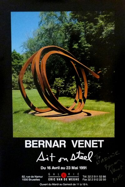 Bernar Venet, 'Sit on Steel (hand signed)', 1991