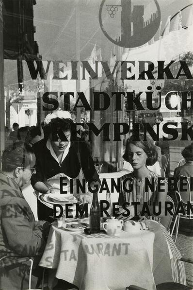 René Burri, 'Restaurant Kempinski am Kurfürstendamm', 1959