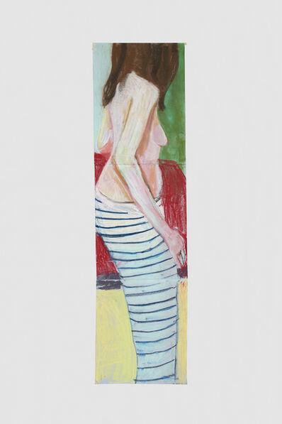 Chantal Joffe, 'Self Portrait in Striped Trousers', 2015
