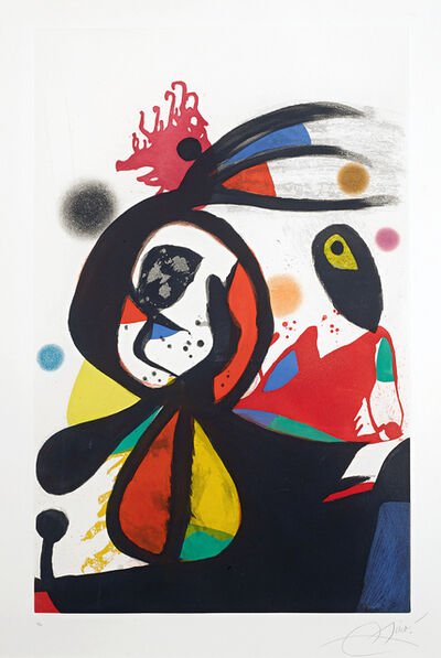 Joan Miró, 'L'Aigrette Rouge (The Red Egret)', 1976