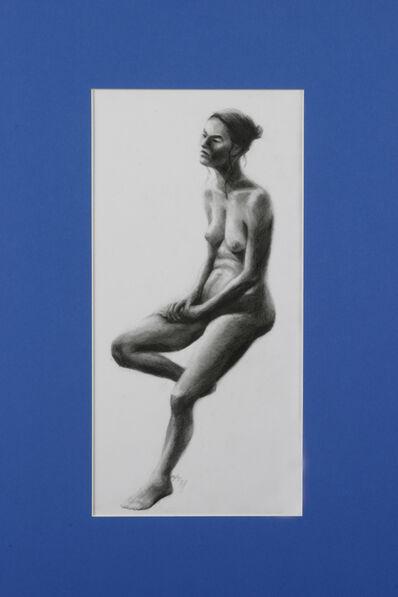 Elodia Arellano Fanjul, 'Figure on Blue', 2006