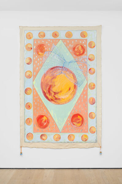 Renate Bertlmann, 'Orangenteppich [Orange Carpet] - magic carpet', 1992