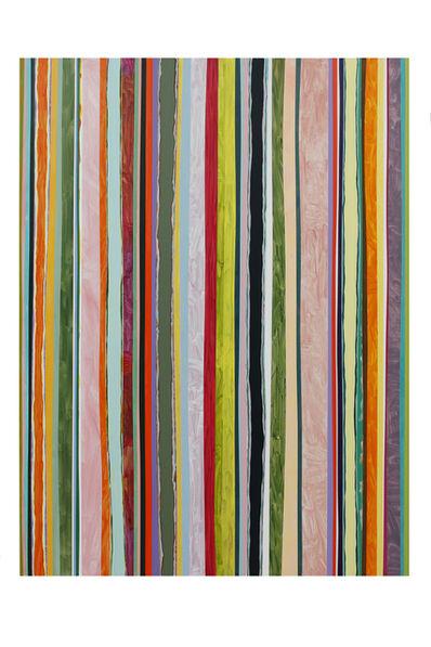 Ien Lucas, 'Stroke traces vertical 01.08.2020', 2020
