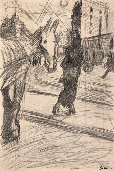 Mario Sironi, 'Paesaggio urbano con cavallo', 1916