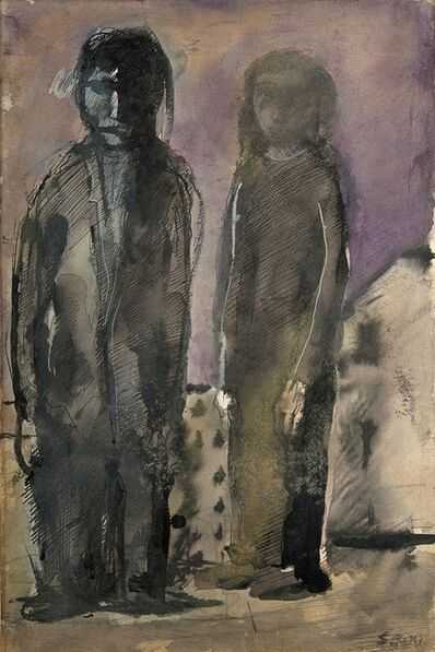 Mario Sironi, 'Due figure'