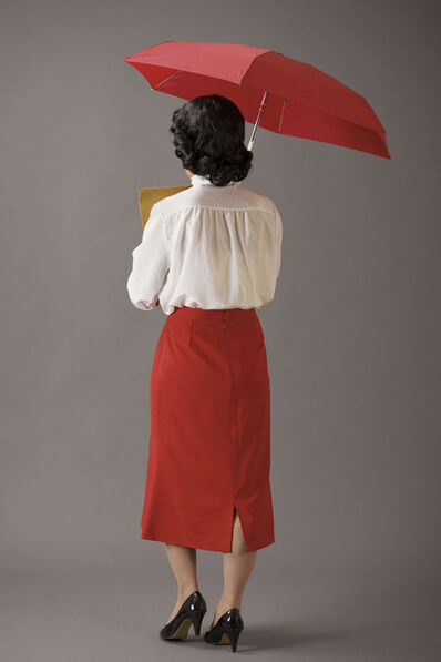 Leung Chi Wo + Sara Wong, 'Office Lady With A Red Umbrella', 2010