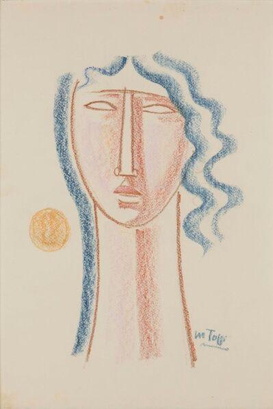 Mario Tozzi, 'Testina dai capelli blu', 1974