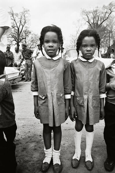 Steve Schapiro, 'Two Girls Watching the March, Selma', 1965