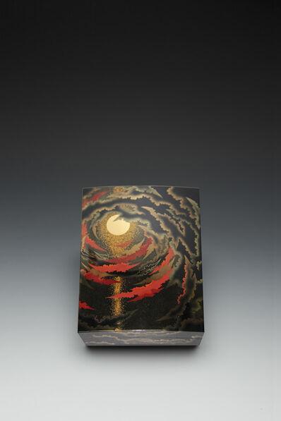 """Yoshio Okada, '""""Rising Sun, Red Clouds"""" Maki-e Lacquer Box (T-3685)', 2013"""