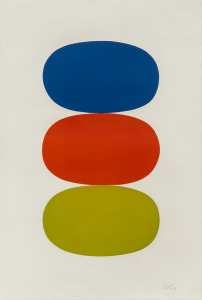 Ellsworth Kelly, 'Blue and Orange and Green', 1964-1965